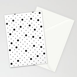 Pin Points Polka Dot Black and White Stationery Cards