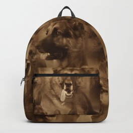 German Shepherd Dog collage Backpack
