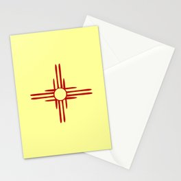 Flag of new mexico hand drawn 1 Stationery Cards