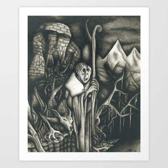 The pilgrim Art Print