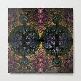 Fractal Abstract with orbs and tribal patterns Metal Print