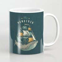 flag Mugs featuring Whale | Petrol Grey by Seaside Spirit