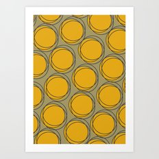 Yellow Polka Art Print