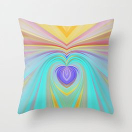 Only love will save this world, romantic rainbow print Throw Pillow