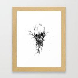 SAND SKULL Framed Art Print