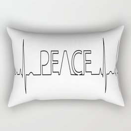 Peace electrocardiogram anatomy aorta Rectangular Pillow