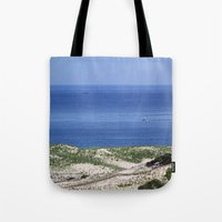 cape cod Tote Bags featuring Cape Cod by Heidi Ingram