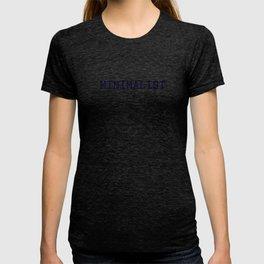 Dark Navy Blue and Copper Minimalist Typewriter Font T-shirt