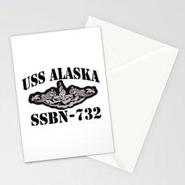 USS ALASKA (SSBN-732) BLACK LETTERS Stationery Cards