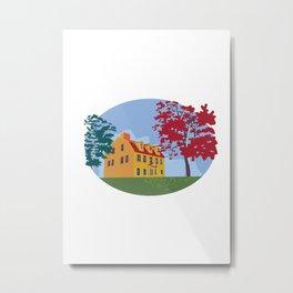 Colonial House WPA Metal Print