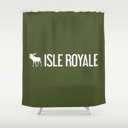 Isle Royale Moose Shower Curtain
