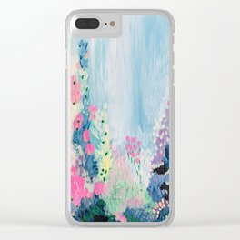 'Garden rain' oil painting on canvas Clear iPhone Case