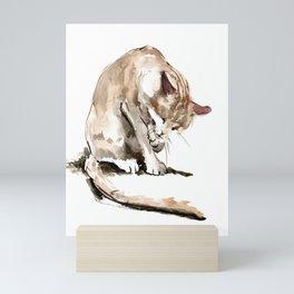 Cat, cat design cat lover, cat sketch Mini Art Print
