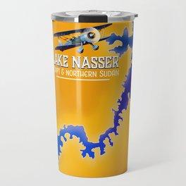 Lake Nasser Egypt & Sudan Map Travel Mug