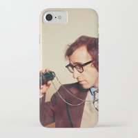 woody allen iPhone & iPod Cases featuring WOODY ALLEN by VAGABOND