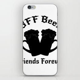 Funny Drinking Beer Friends Forever - Drinker iPhone Skin