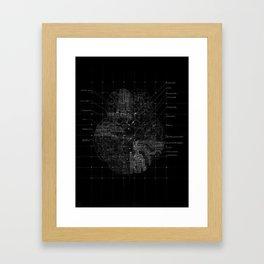 Cerebral in BW Framed Art Print