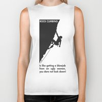 climbing Biker Tanks featuring Rock Climbing by Rothko