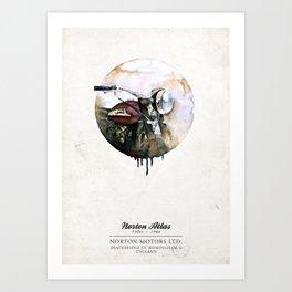 Norton Atlas Art Print