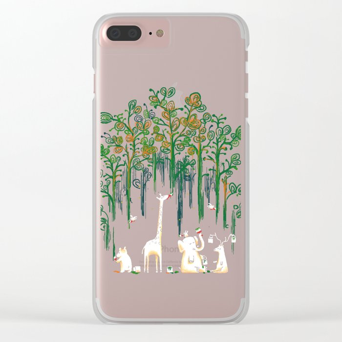 Re-paint the Forest Clear iPhone Case