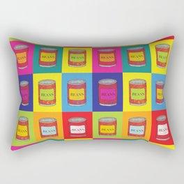 Baked Beans Retro Pop Art Rectangular Pillow