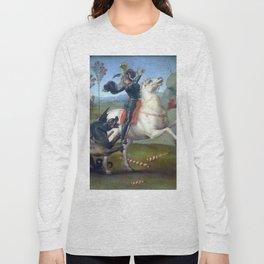 "Raffaello Sanzio da Urbino ""Saint George and the Dragon"", 1503 - 1505 Long Sleeve T-shirt"