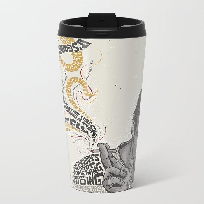 MARLON BRANDO - Quotes Art Metal Travel Mug