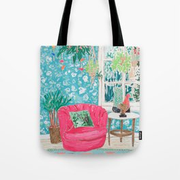 Pink Tub Chair Tote Bag