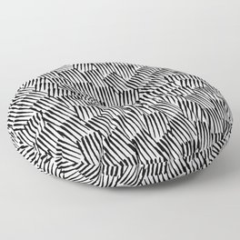 Crosshatched yourself Floor Pillow