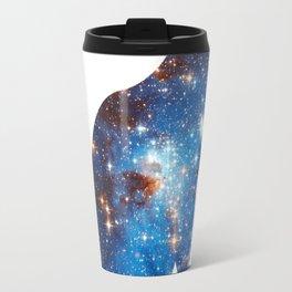 cosmic cat triangle Travel Mug