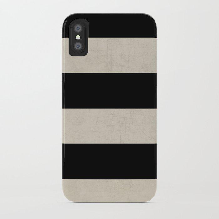 vintage black stripes iPhone Case