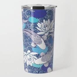 Blue Koi Ripples Travel Mug