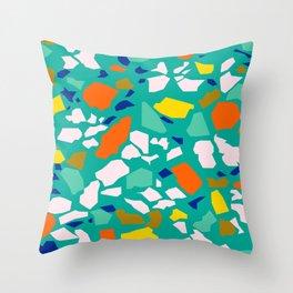 Terazzo Pattern in Pool Throw Pillow