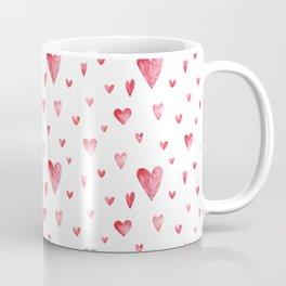 Watercolor print with hearts Coffee Mug