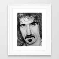 zappa Framed Art Prints featuring ZAPPA by Rob Delves