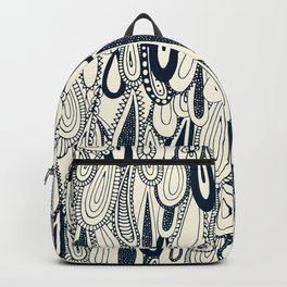 droplets indigo pearl Backpack