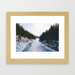 Lake Minnewanka, Banff, Alberta, Canada Framed Art Print