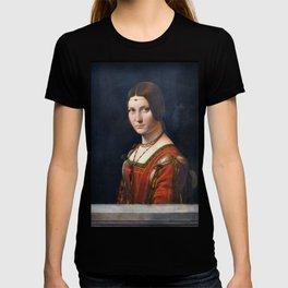 Portrait Of An Unknown Woman by Leonardo Da Vinci T-shirt