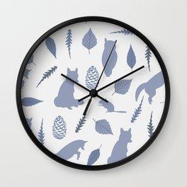 Winter Fox (Tide) Wall Clock