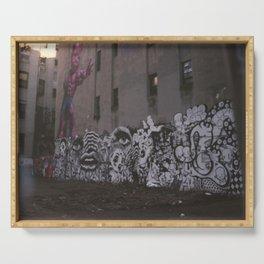 Graffiti Wall Serving Tray