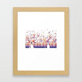 Magical Piano Keyboard Organ Instrument Men Women Tee Shirt Humor Keyboardist Fingerboard Graphic T Framed Art Print