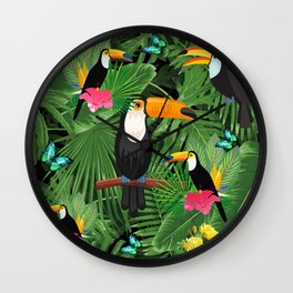 Toucan tropic Wall Clock