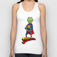 kermit Tank Tops featuring Kermit the Superman by JoshEssel