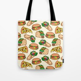 I <3 carbs (Fast food pattern) Tote Bag