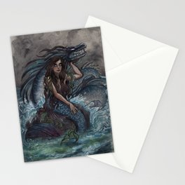 Mermaid and Sea Dragon Stationery Cards