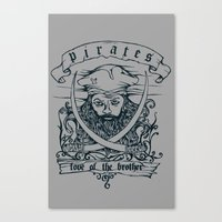 pirates Canvas Prints featuring pirates by LUKMANX