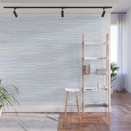 Blue mirage - a handmade pattern Wall Mural