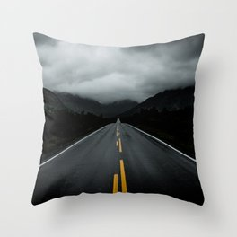 Open Road Landscape Throw Pillow