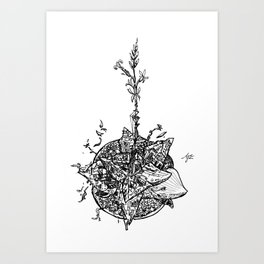 Garden of Danger Art Print