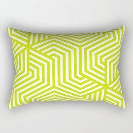 Bitter lemon - green - Minimal Vector Seamless Pattern Rectangular Pillow